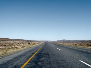 This is what it's like driving through the Karoo desert